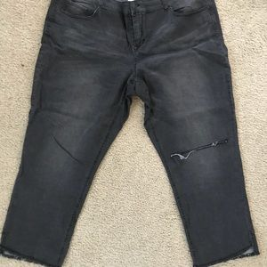 Maurices DenimFlex +size cropped jeggings in black